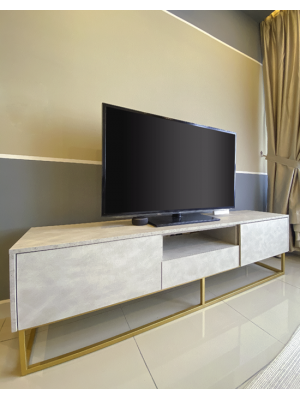 Glamorold B400 TV Console Matera White