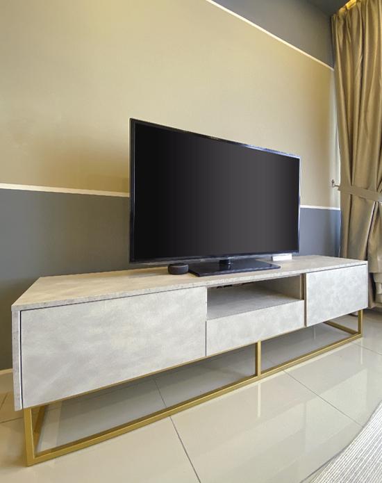 Glamorold B400 TV Console Matera White