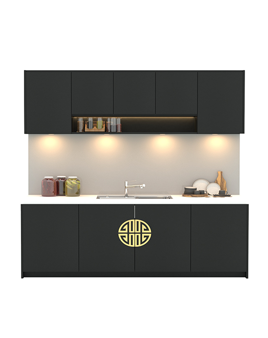 Jade Black Kitchen Cabinet