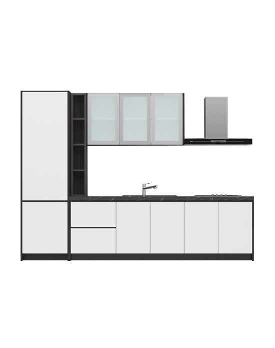 Virago A08 Milky White Kitchen Cabinet